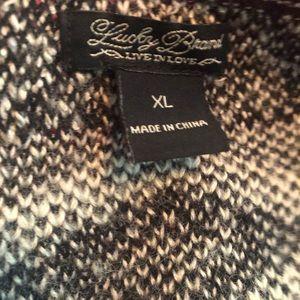 Lucky Brand Sweaters - Lucky Brand Geometric Tribal Open Face Cardigan